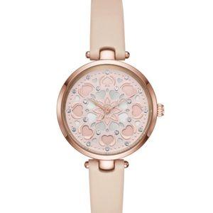 NEW-Kate Spade Holland Heart Vachetta Watch
